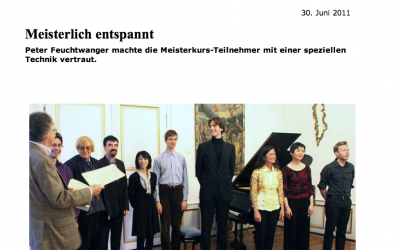 Master class Peter Feuchtwanger in Waldkirch, Germany