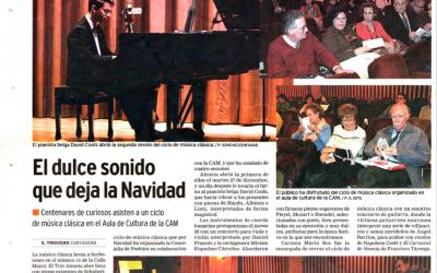 Piano recital in Cartagena, Spain